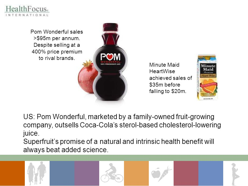 Pom Wonderful sales >$95m per annum.