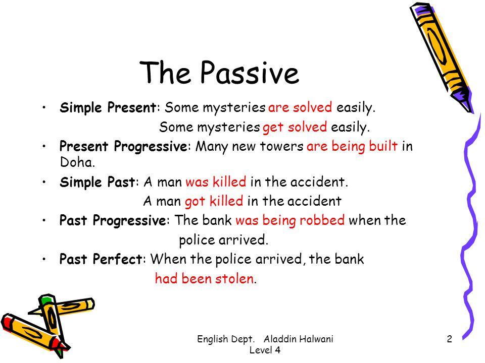 English Dept. Aladdin Halwani Level 4