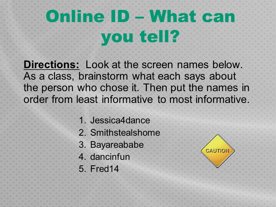 Online ID – What can you tell