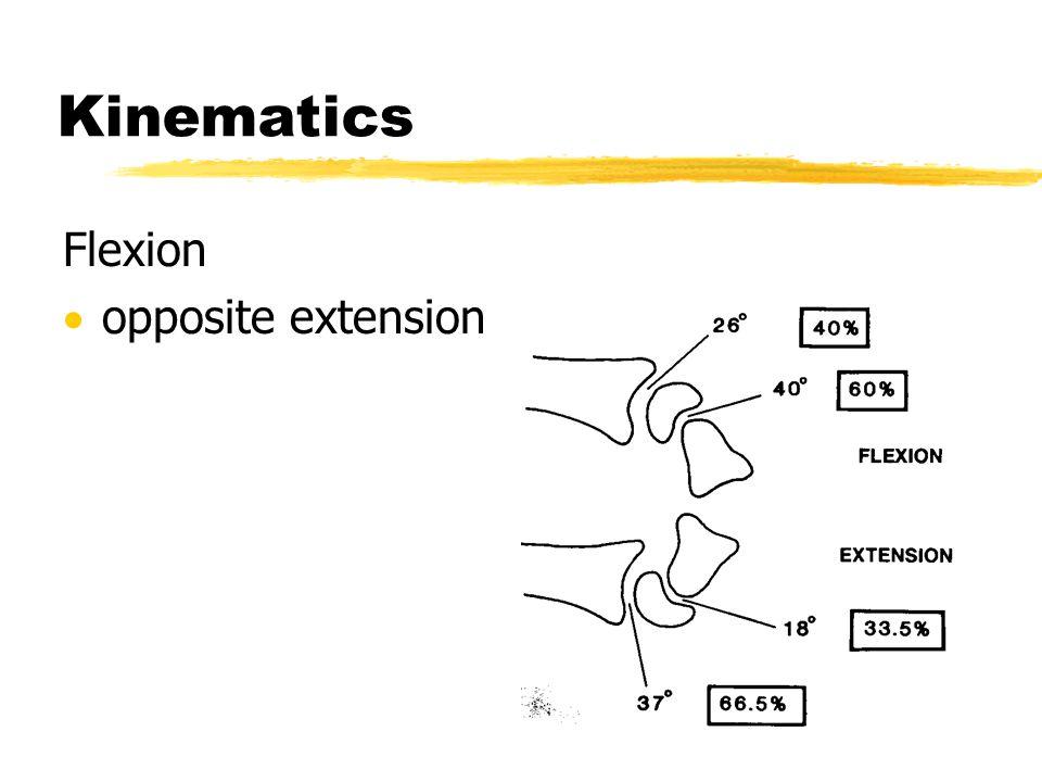 Kinematics Flexion opposite extension