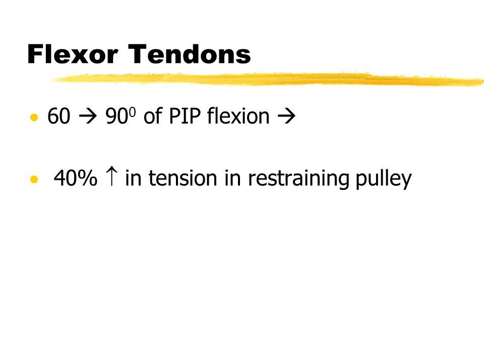 Flexor Tendons 60  900 of PIP flexion 
