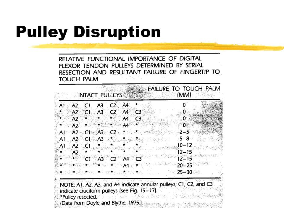 Pulley Disruption