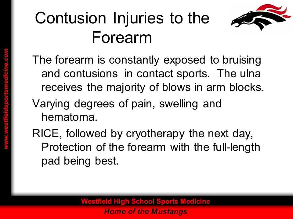 Contusion Injuries to the Forearm