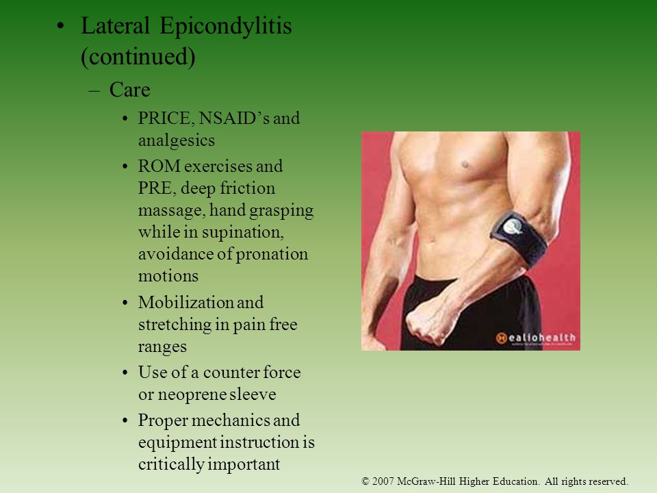 Lateral Epicondylitis (continued)