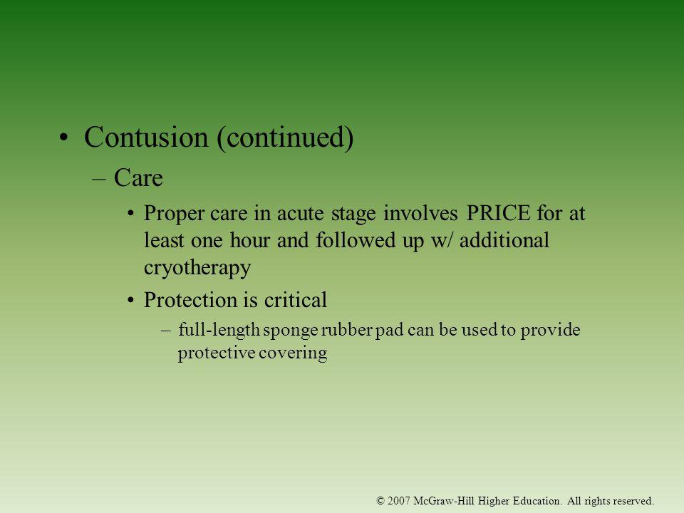 Contusion (continued)
