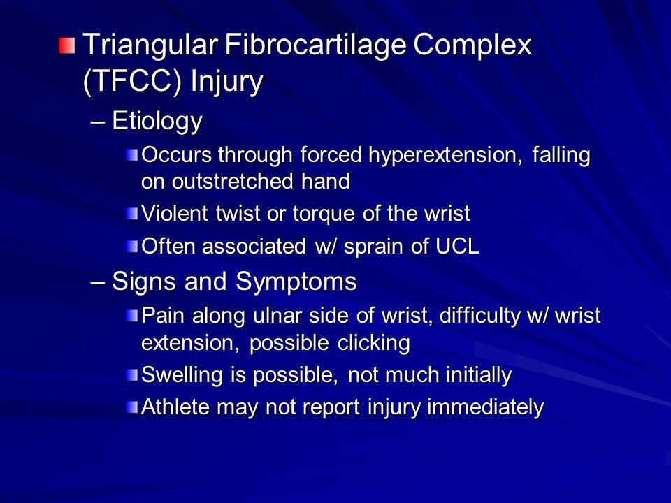 Triangular Fibrocartilage Complex (TFCC) Injury