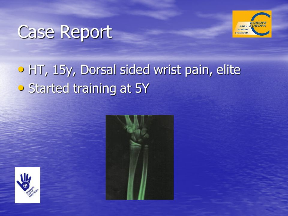 Case Report HT, 15y, Dorsal sided wrist pain, elite