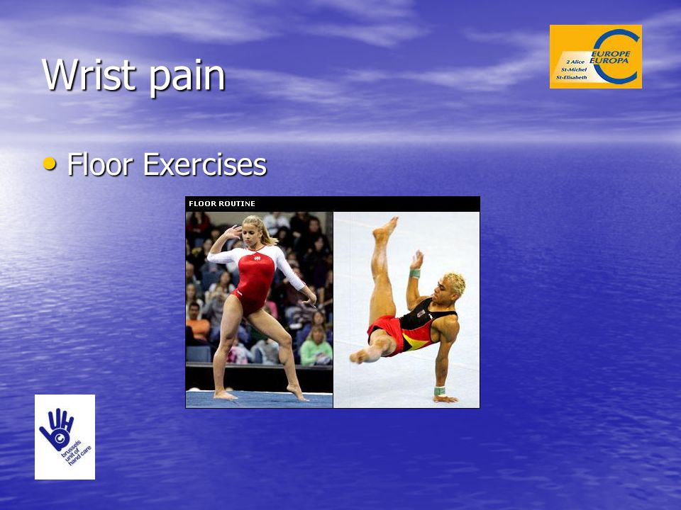 Wrist pain Floor Exercises