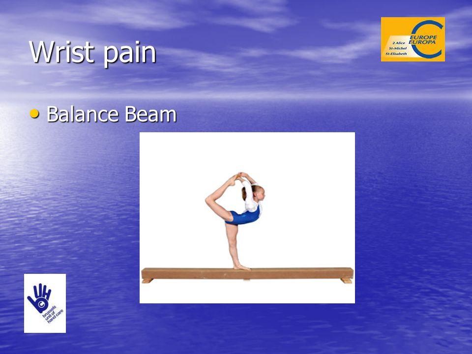 Wrist pain Balance Beam