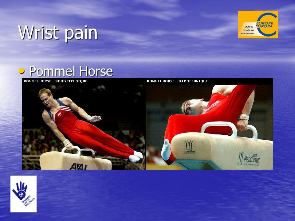 Wrist pain Pommel Horse