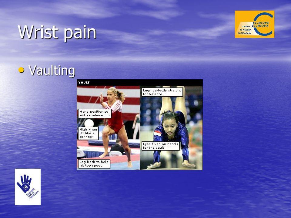 Wrist pain Vaulting