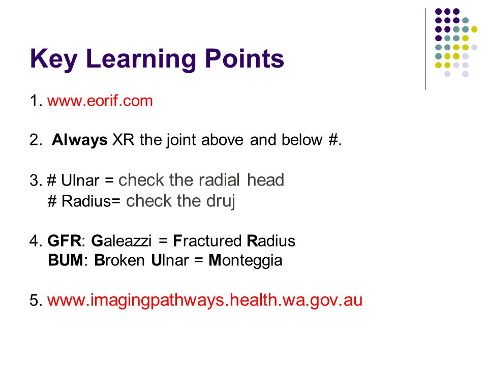 Key Learning Points 1. www.eorif.com