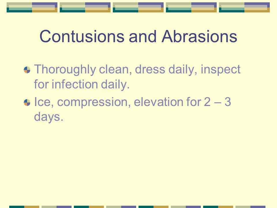 Contusions and Abrasions