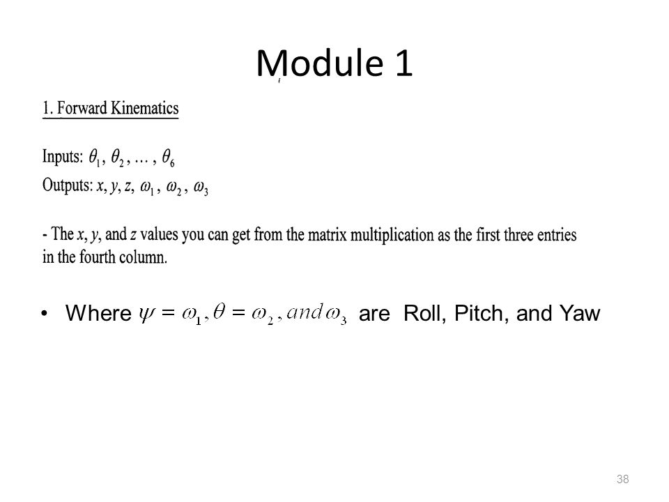 Module 1 Where are Roll, Pitch, and Yaw