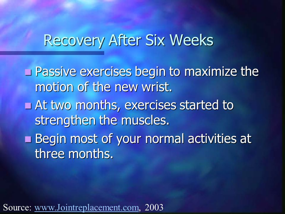 Recovery After Six Weeks