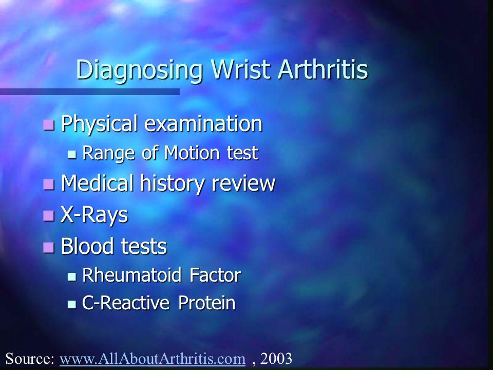 Diagnosing Wrist Arthritis