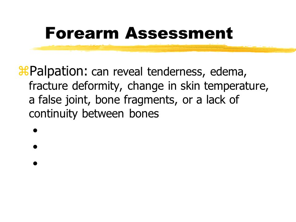Forearm Assessment