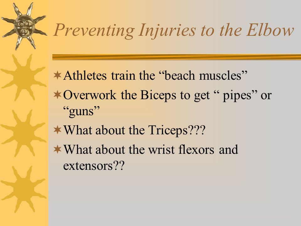 Preventing Injuries to the Elbow