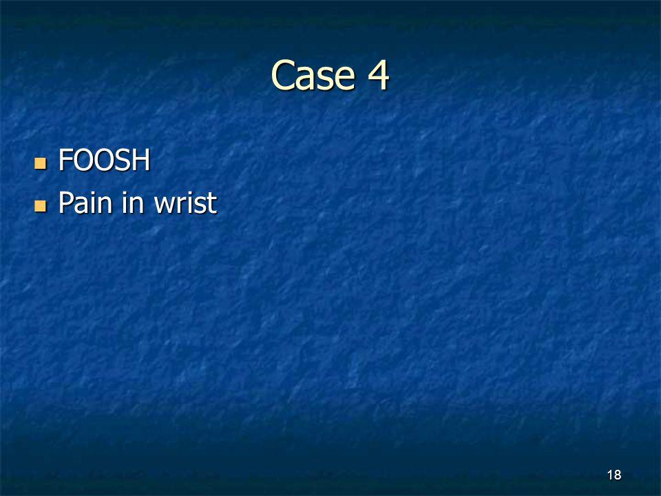 Case 4 FOOSH Pain in wrist