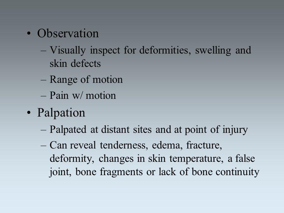 Observation Palpation