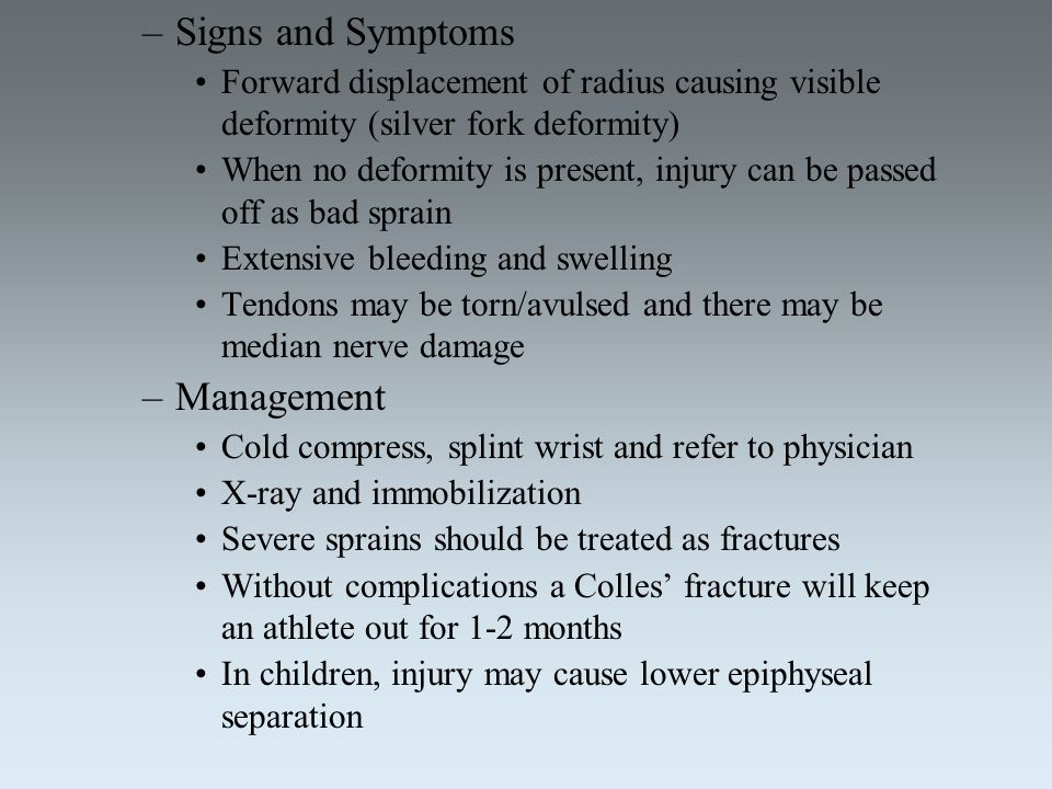Signs and Symptoms Management