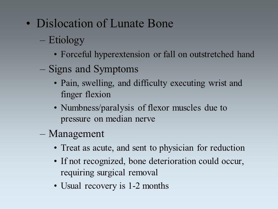 Dislocation of Lunate Bone