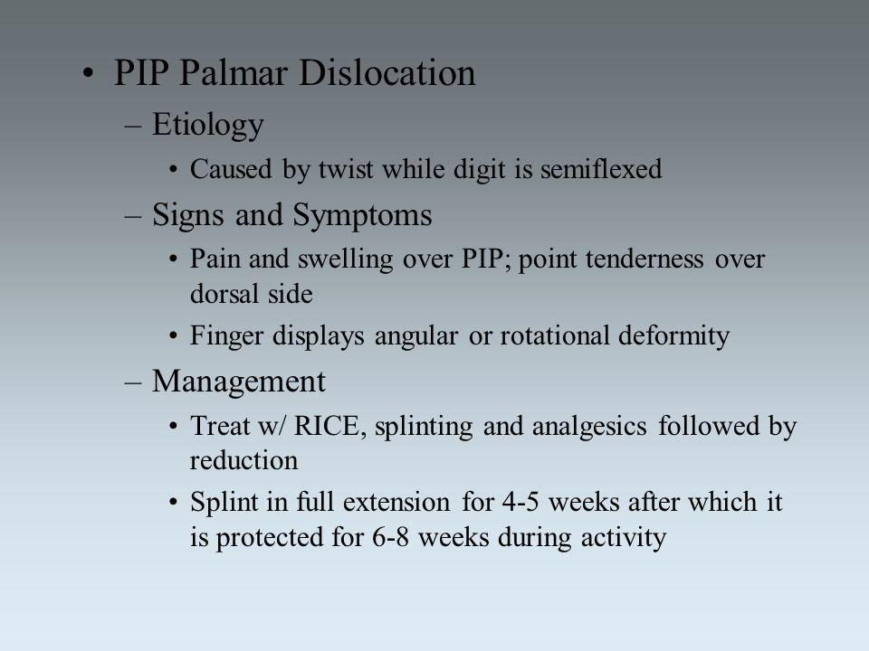 PIP Palmar Dislocation