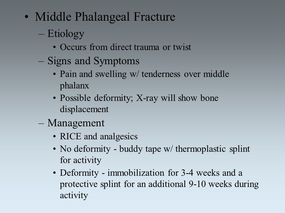 Middle Phalangeal Fracture