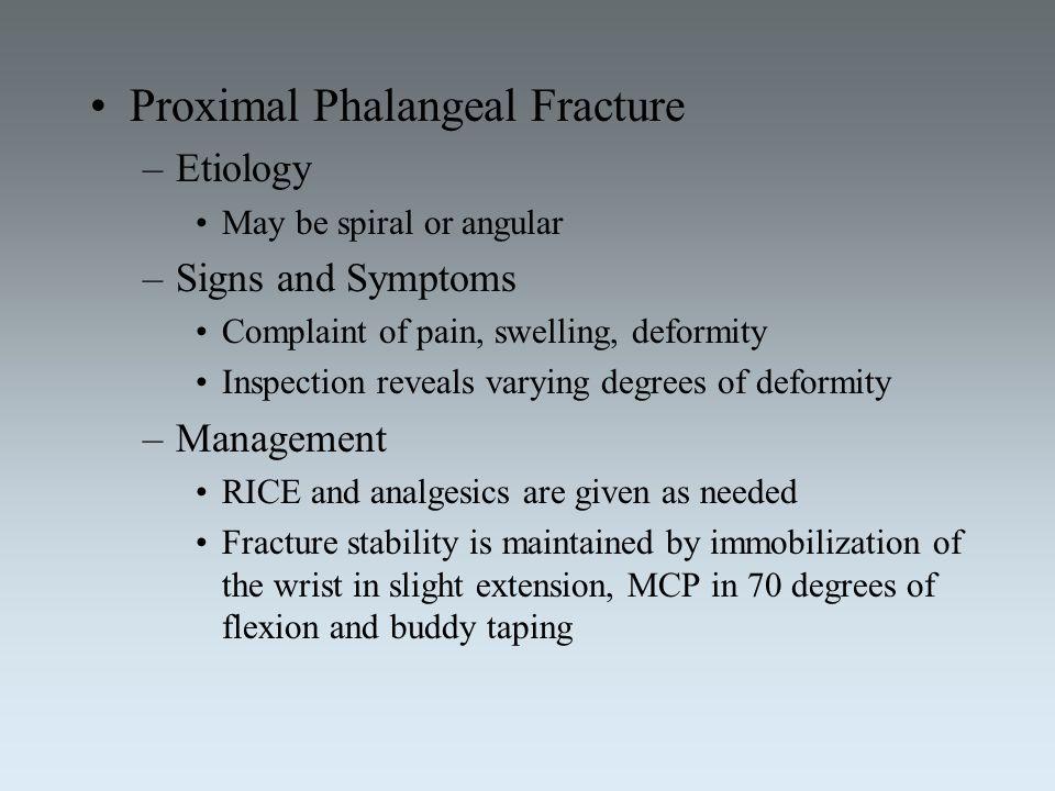Proximal Phalangeal Fracture