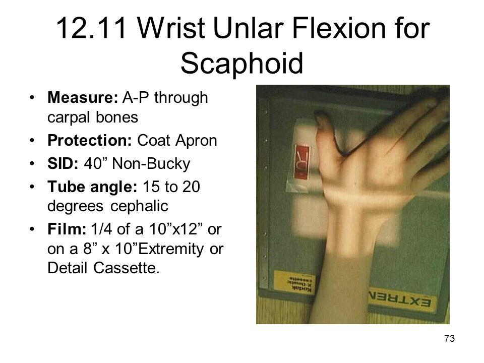 12.11 Wrist Unlar Flexion for Scaphoid