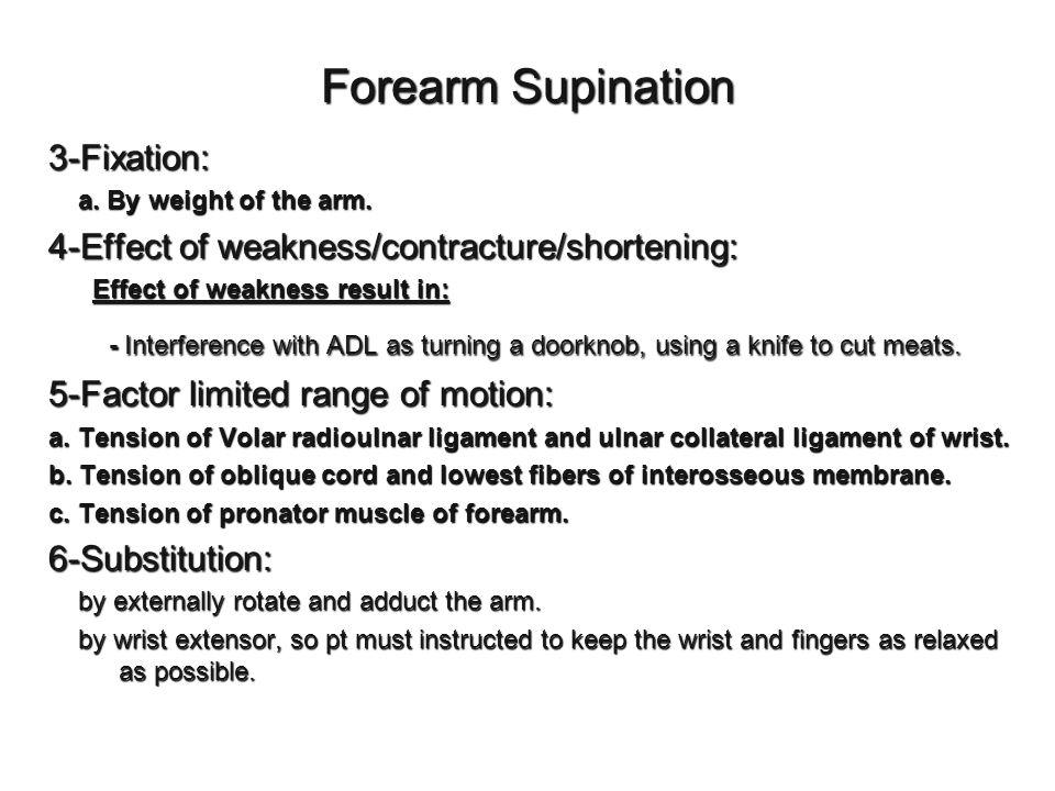 Forearm Supination 3-Fixation: