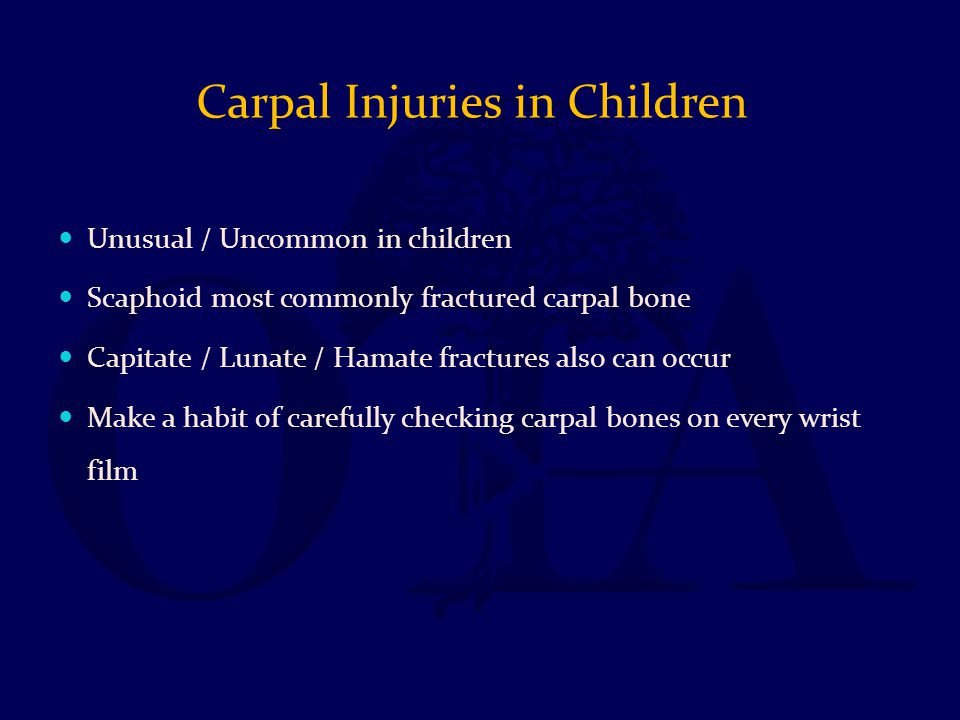 Carpal Injuries in Children