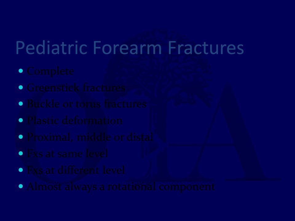 Pediatric Forearm Fractures