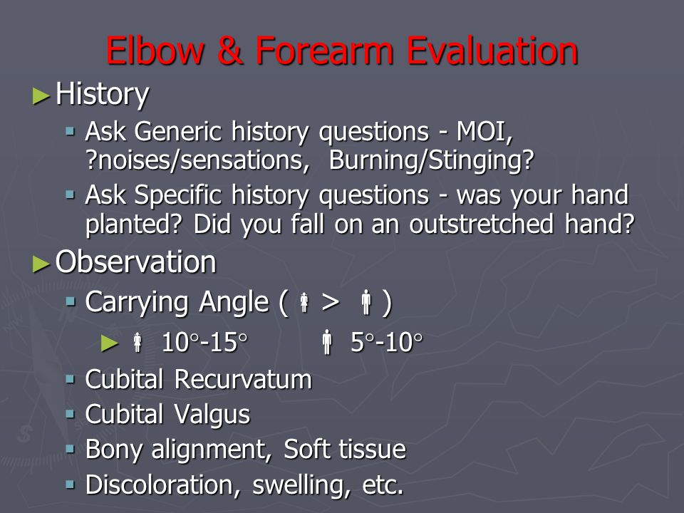 Elbow & Forearm Evaluation