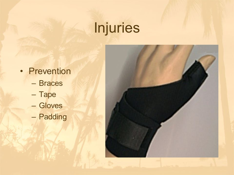 Injuries Prevention Braces Tape Gloves Padding