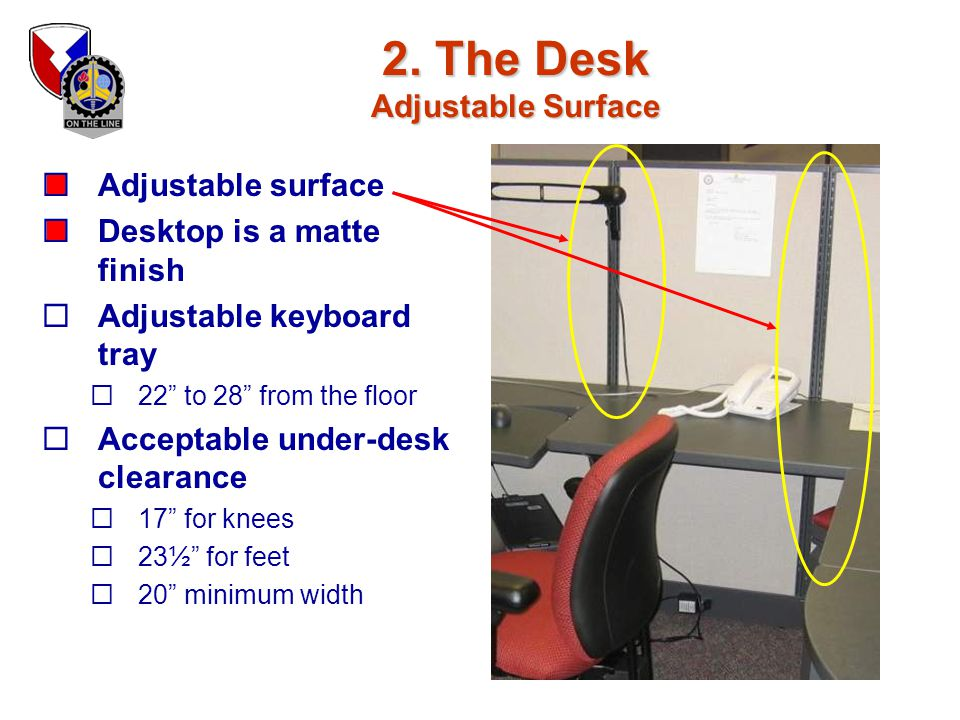 2. The Desk Adjustable Surface