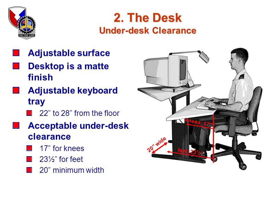 2. The Desk Under-desk Clearance