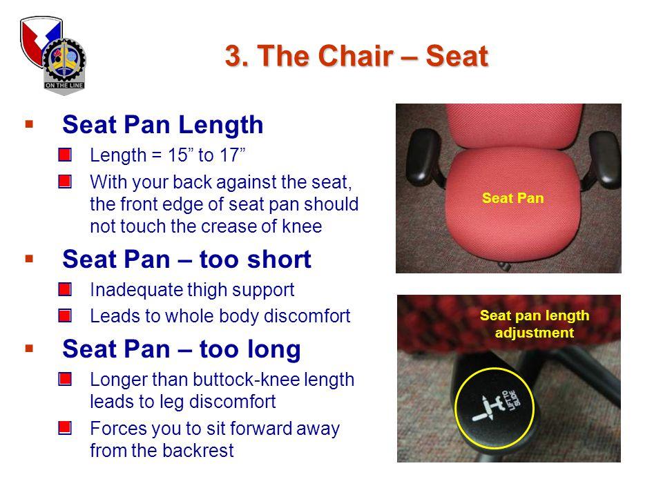 Seat pan length adjustment