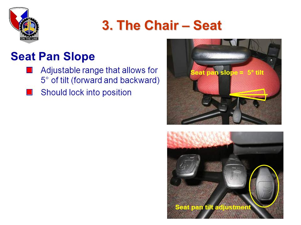 Seat pan tilt adjustment