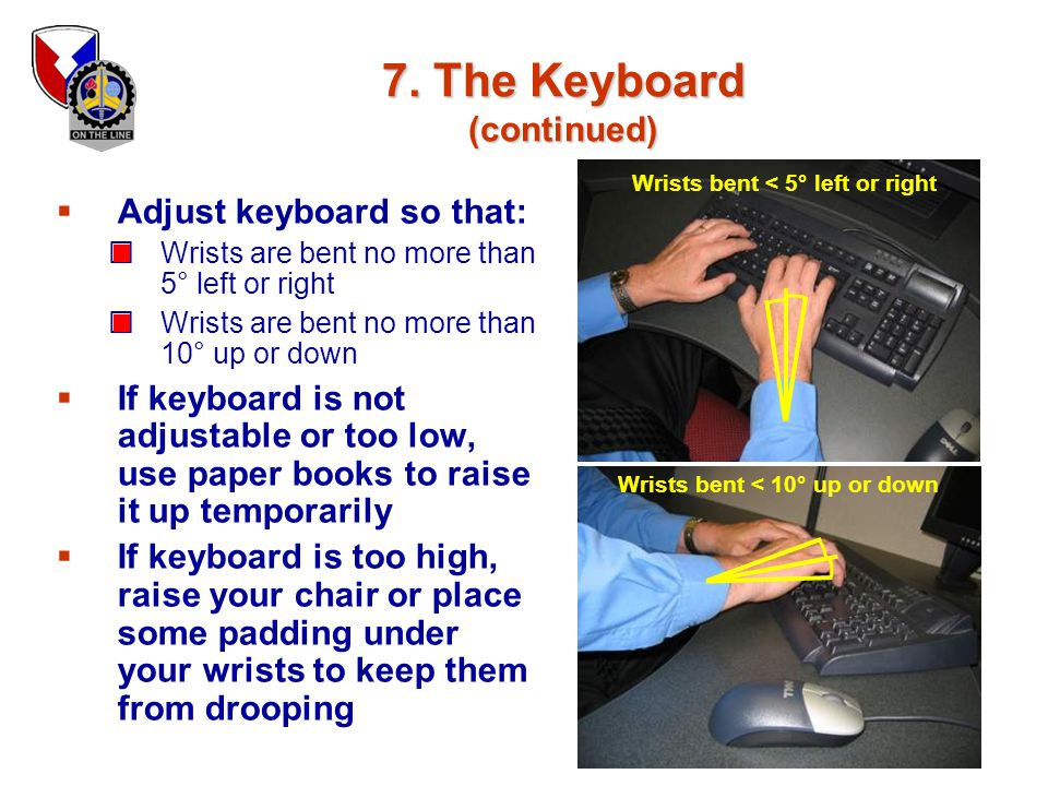7. The Keyboard (continued)