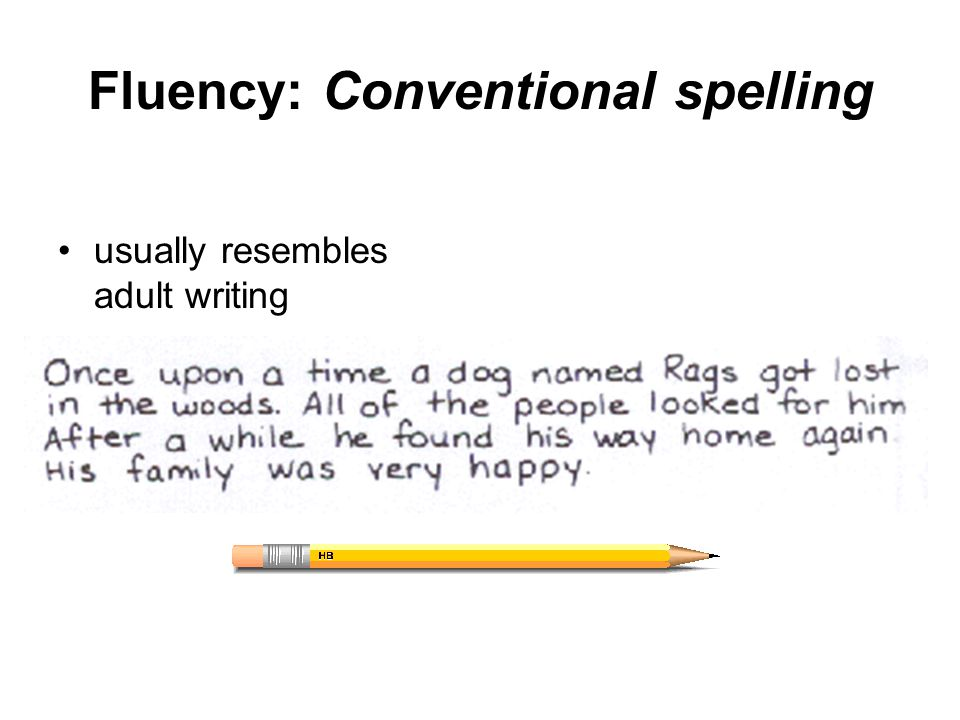 Fluency: Conventional spelling