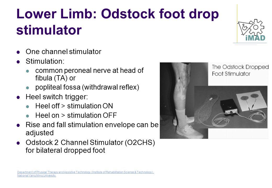 Lower Limb: Odstock foot drop stimulator