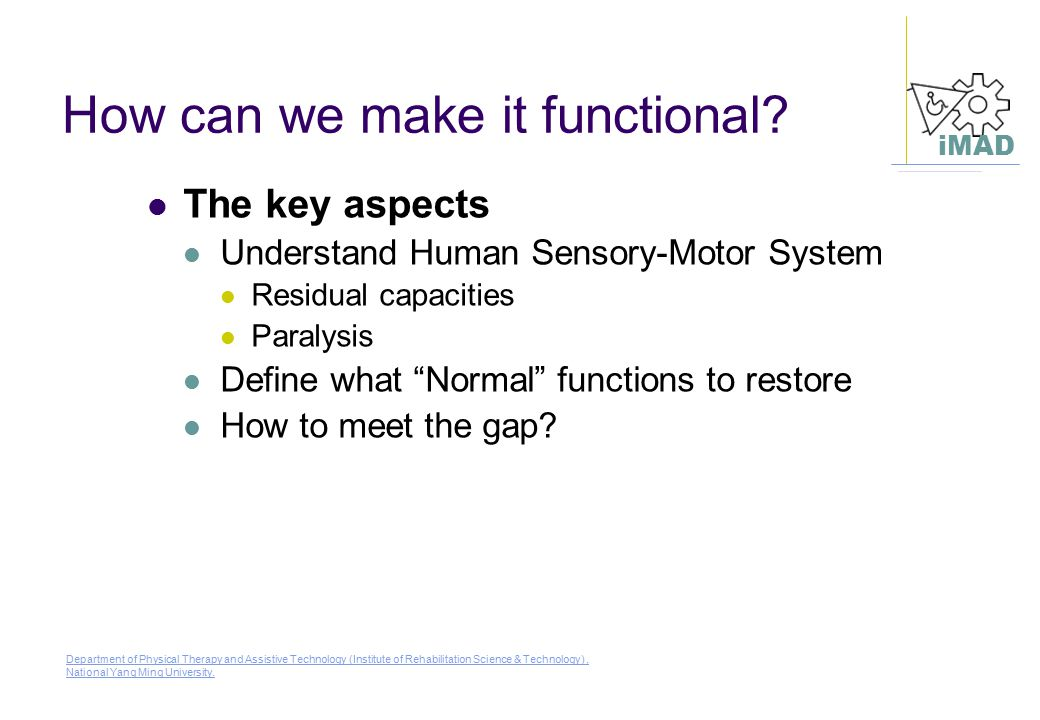 How can we make it functional