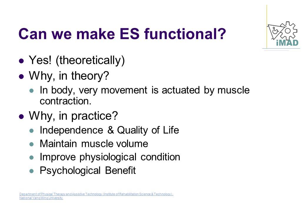 Can we make ES functional