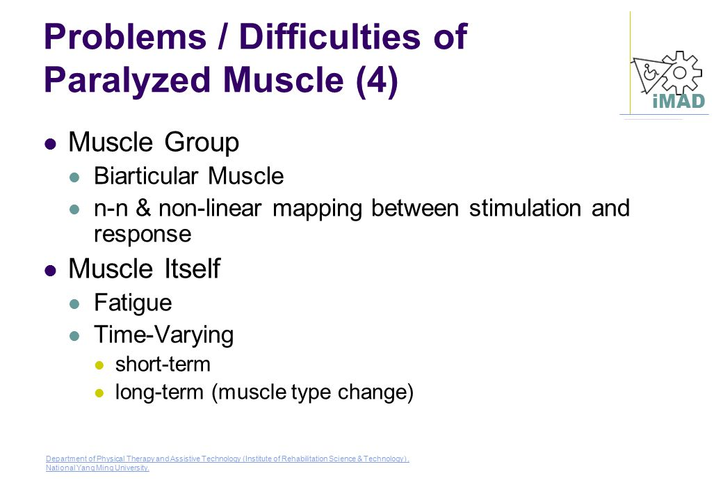 Problems / Difficulties of Paralyzed Muscle (4)