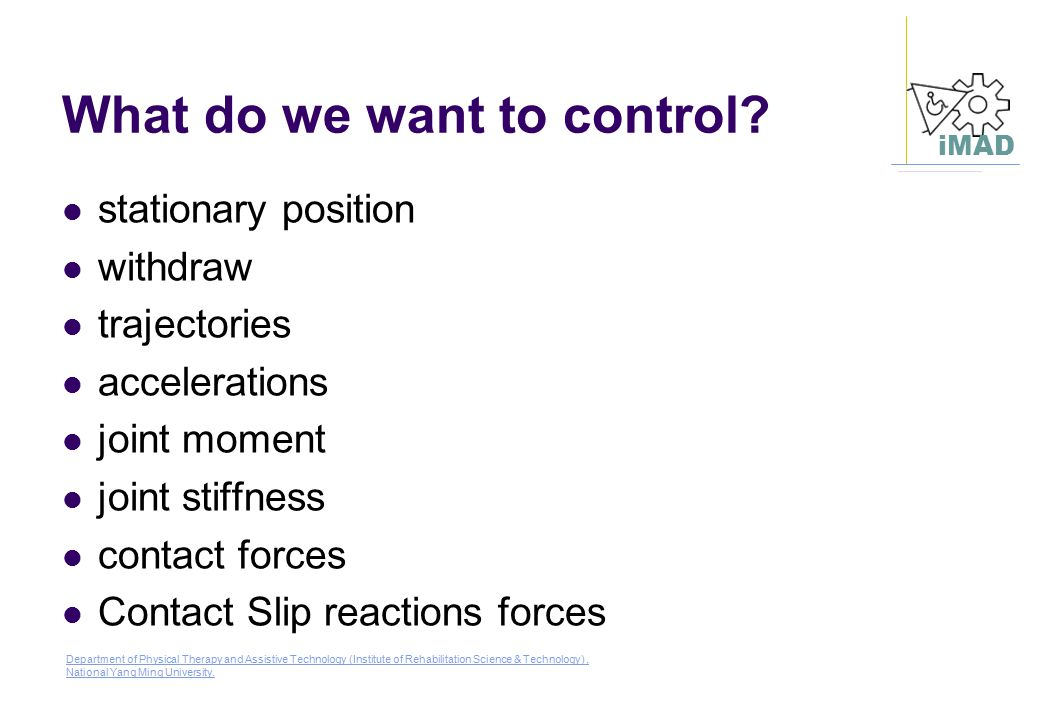 What do we want to control