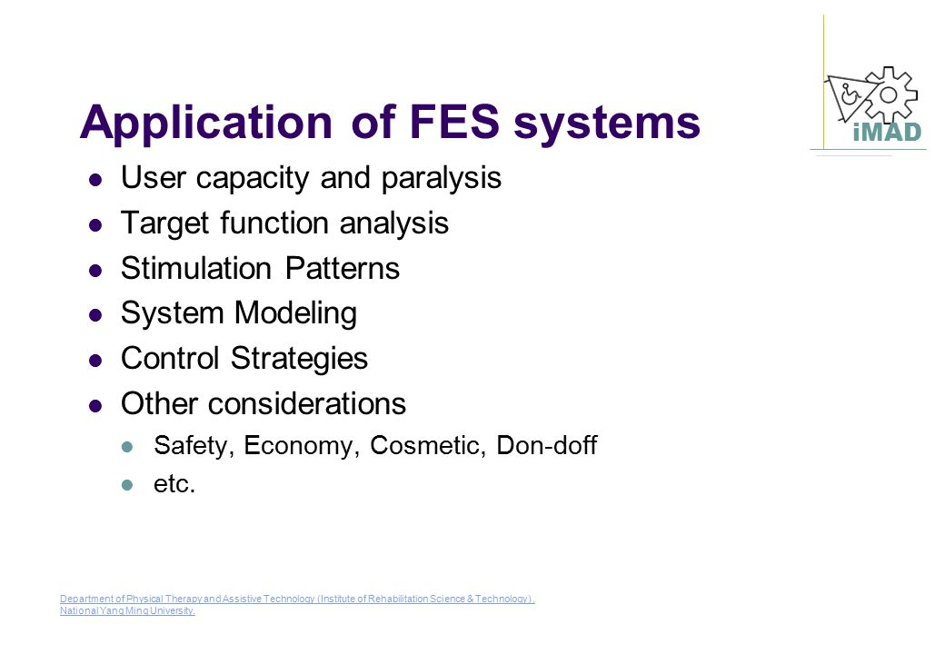 Application of FES systems