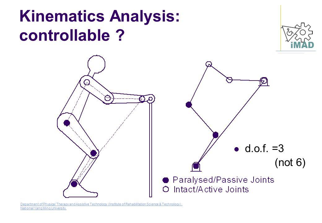 Kinematics Analysis: controllable