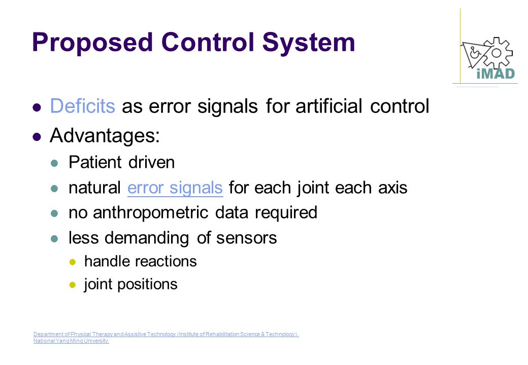 Proposed Control System