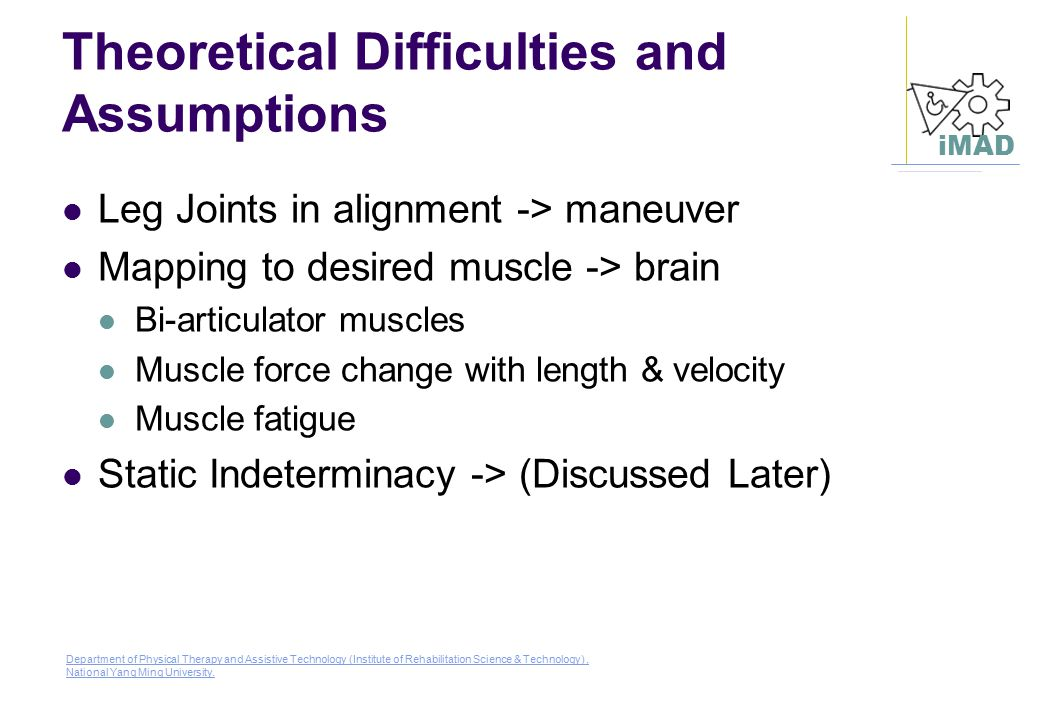 Theoretical Difficulties and Assumptions